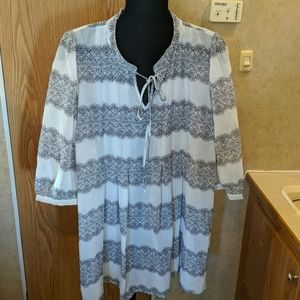 Daniel Rainn Anthropologie tunic blouse size 2x